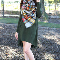 The Autumn Knit Dress - Green