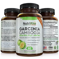 95% HCA Pure Garcinia Cambogia Extract - Highest Potency For Fat Burn & Weight Loss - Natural Clinically Proven Appetite Suppressant. Best Garcinia Cambogia Raw. 60 Diet Pills. Made in USA
