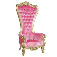 Absolom Roche Chair Gold and Pink Velvet, fabulous and baroque, unique kids furniture, luxurious childrens furinture, unique furniture, designer, high