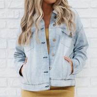 Team Up Denim Jacket (Washed Denim)