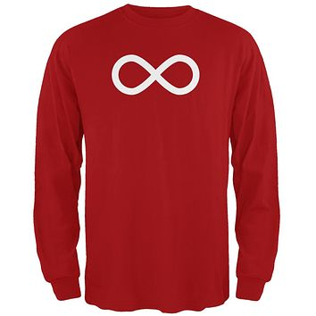 Metis Flag of Canada Red Adult Long Sleeve T-Shirt