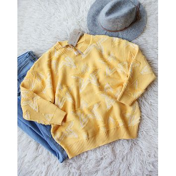 Falling Star Sweater in Daffodil
