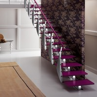 Steel and wood Open staircase PRIMA Rintal Executive line Collection by RINTAL