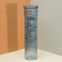 Hestia Blue Column Stackable Glasses - LAST ONE!