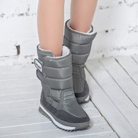 US SIZE Winter Women's Snow boots 8 Color Warm waterproof Wedge Boot Cotton inline winter shoes