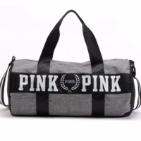 PInk Printed Large Capacity Traveling Bag Sports Bag