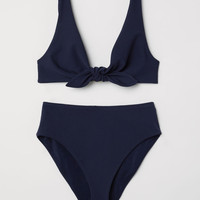 Knot-detail bikini - Dark blue - Ladies | H&M GB