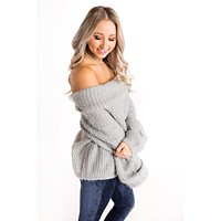 Warm And Cozy Sweater (Grey)
