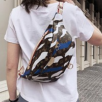 Louis Vuitton LV New Camouflage Pattern Waist Bag Fashionable Men's and Women's Handbag Shoulder Messenger Bag