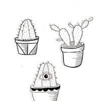 Cactus Sticker Set No. 6