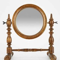 Magical Thinking Spindle Wood Tabletop Mirror- Brown One