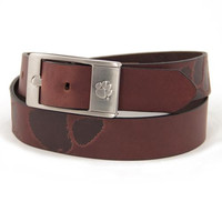 Clemson Tigers NCAA Men's Embossed Leather Belt (Size 44)