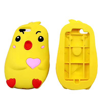 Fundas capas For iphone 7 case 7plus Anime 3D Cute yeallow chicken cartoon silicon soft cover for iphone 6 case 6 6s 6plus shell-0405