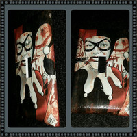 Harley Quinn with dagger in mouth light switch or plug cover handcrafted DC comic