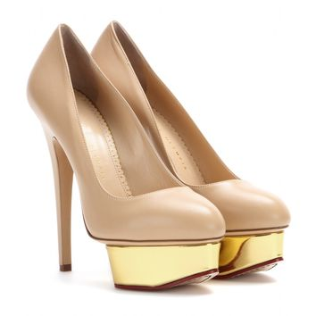 charlotte olympia - dolly leather platform pumps