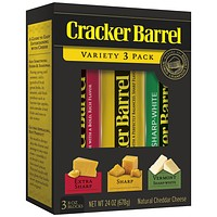 CHEESE PREMIUM CRACKER BARREL, CABOT & SARGENTO