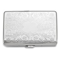 Silver-tone Cigarette/Card Case