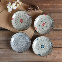 """Hot Sale Plate Utensils 8"""" Japanese Ceramic Plates Buffet Dishes Sushi Plate Set Dish Sets for Food Kitchen Accessories Set"""