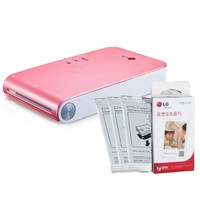 LG PoPo Pocket Photo 2 PD239 (Pink) Mini Portable Mobile Photo Printer +30 Zink Paper Sheet for Android, iOS