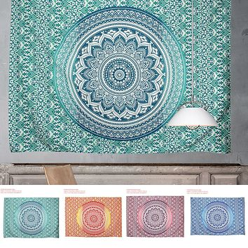 2016 Square Mandala Tapestry Hippie Wall Hanging Tapestries Boho Bedspread Beach Towel Mat Blanket Table Cloth 210*150