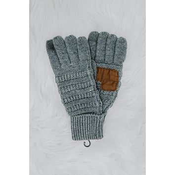 Chilly Breeze Smart Tip Gloves - Charcoal