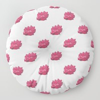Red Rose 2 Floor Pillow by drawingsbylam