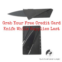Sale Item - FREE Stainless Steel Credit Card Knife