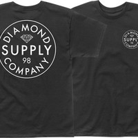 Diamond Stamped Tee Large Black/White