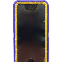 iPhone 5c OtterBox Defender Series Case  Glitter Cute Sparkly Bling Defender Series Custom Case Ocean purple / gold