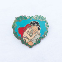 The Little Mermaid heart pin featuring Ariel and Prince Eric