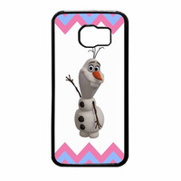 Olaf Disney Frozen Blue Pink Chevron Samsung Galaxy S6 Case