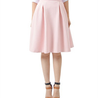 Pink Quilted Midi Skirt by Potter's Pot