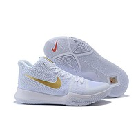 Nike Kyrie Irving 3 White/Gold Sport Shoes US7-12