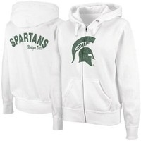 Amazon.com: NCAA Michigan State Spartans Ladies Cozy Full Zip Hoodie - White: Sports & Outdoors
