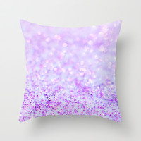 Sweetly Lavender Throw Pillow by Lisa Argyropoulos