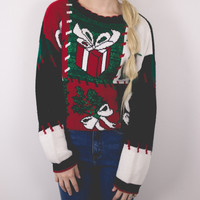 Vintage MATCHING Presents Ugly Christmas Sweater