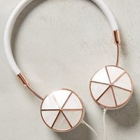 Interchangeable Enamel Headphone Caps by Anthropologie