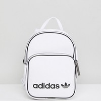 adidas Originals Mini Backpack In White Faux Leather at asos.com