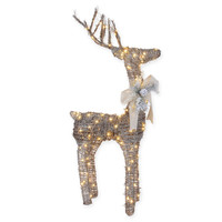 48-Inch Micro LED Lighted Standing Reindeer in Brown