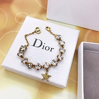 Dior Woman Fashion Accessories Fine Jewelry Ring & Chain Necklace & Earrings Newest Popular Women Delicate