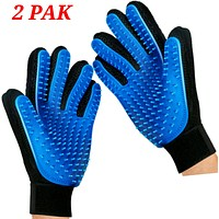 Mr. Peanut's 2 Pak HanD 259 Silicone Pins Pet Grooming Gloves