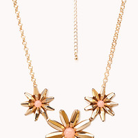 FOREVER 21 Simply Stated Floral Necklace Gold/Peach One