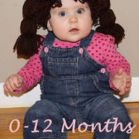 Cabbage Patch Hat , Cabbage Patch Kid Hat , Cabbage Patch Kid Wig Many Color Choices