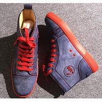 Christian Louboutin CL Leather Style #2145 Sneakers Fashion Shoes Online
