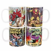 Marvel Comics Set Of 4 Mugs : TruffleShuffle.com