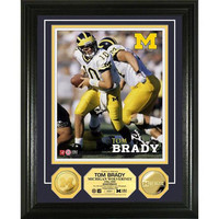Tom Brady University of Michigan 24KT Gold Coin Photo Mint