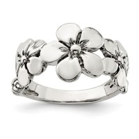 Sterling Silver Hawaiian Flower Ring