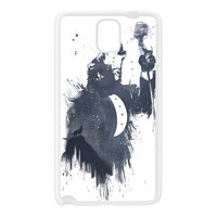 Wolf Song 3 White Silicon Rubber Case for Galaxy Note 3 by Balazs Solti