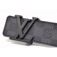 Louis Vuitton belt Initiales Damier Graphit