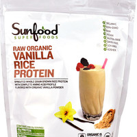 SunFood Raw Organic Rice Protein Vanilla -- 8 oz
